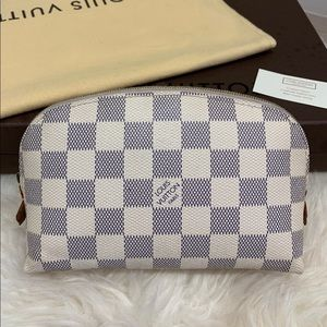 Louis Vuitton Damier Azur Cosmetic Pouch PM